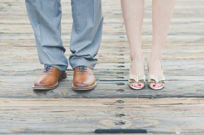 Braut und Bräutigam Schuhe