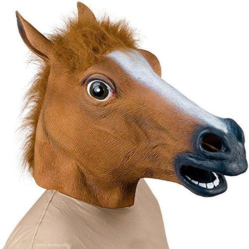 Supmaker Luxus-Halloween-Kostüm, Pferdekopf aus Latex